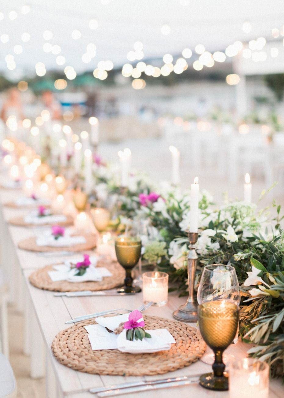 A Beautiful Destination Wedding In Greece Part 2 Table