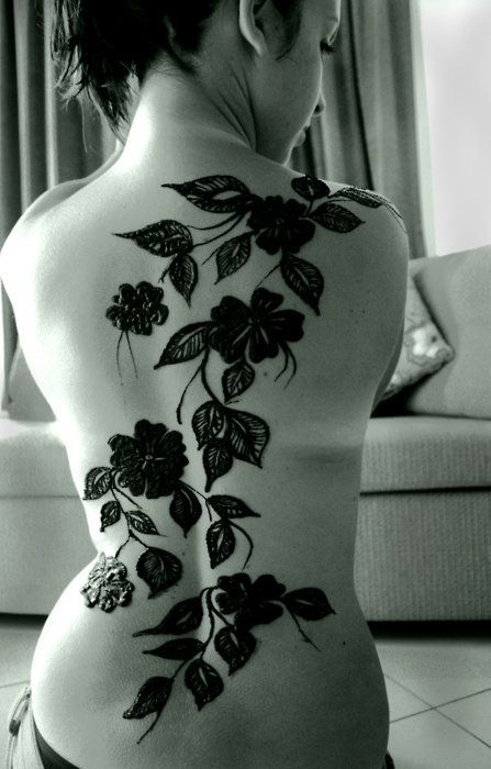 Indian Henna Tattoos Full Body: Gorgeous Floral Tat