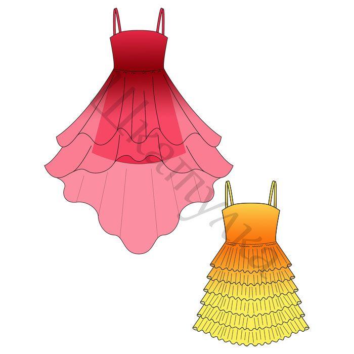 Выкройка бального платья для девочки   Bé gái   Pinterest   Tolle ...