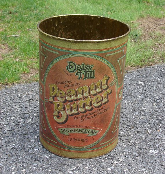 Vintage Daisy Hill Peanut Butter Tin Can Large... Oh My Goodness!!!