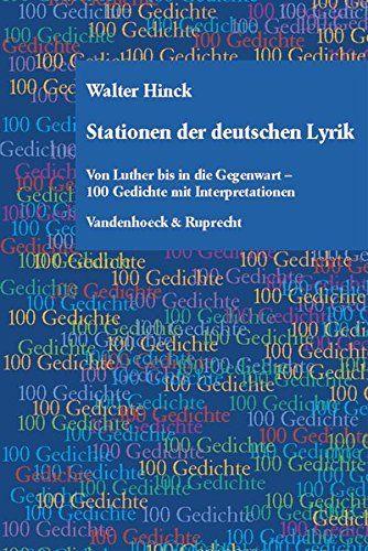 Stationen Der Deutschen Lyrik Von Luther Bis In Die