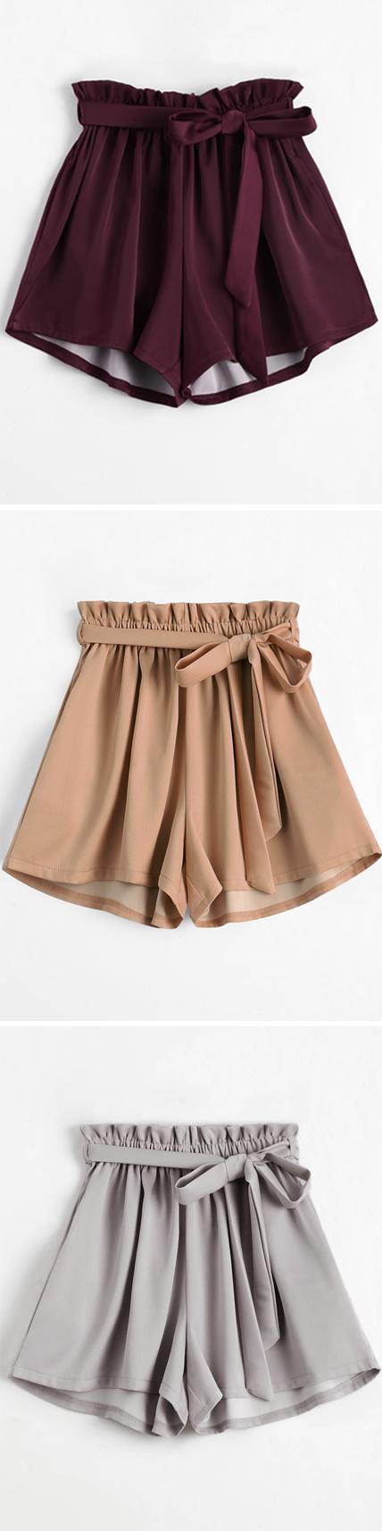 Smocked Belted High Waisted Shorts | Romper skirt, Skirt leggings ...