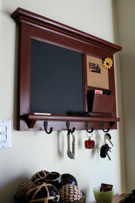 Command Center Wall Organizer Home Decor Storage Cork Board Office