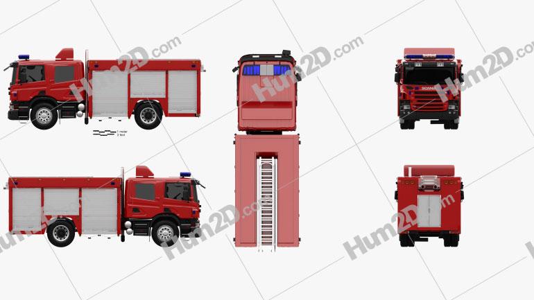 Scania P Fire Truck 2011 Clipart Fire Trucks Clip Art Fire