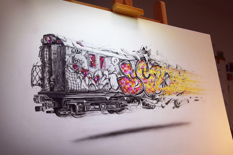 Картинки нарисованного граффити