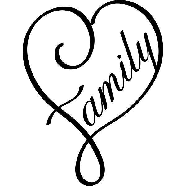 family heart digi cuts pinterest cricut silhouettes and tattoo. Black Bedroom Furniture Sets. Home Design Ideas