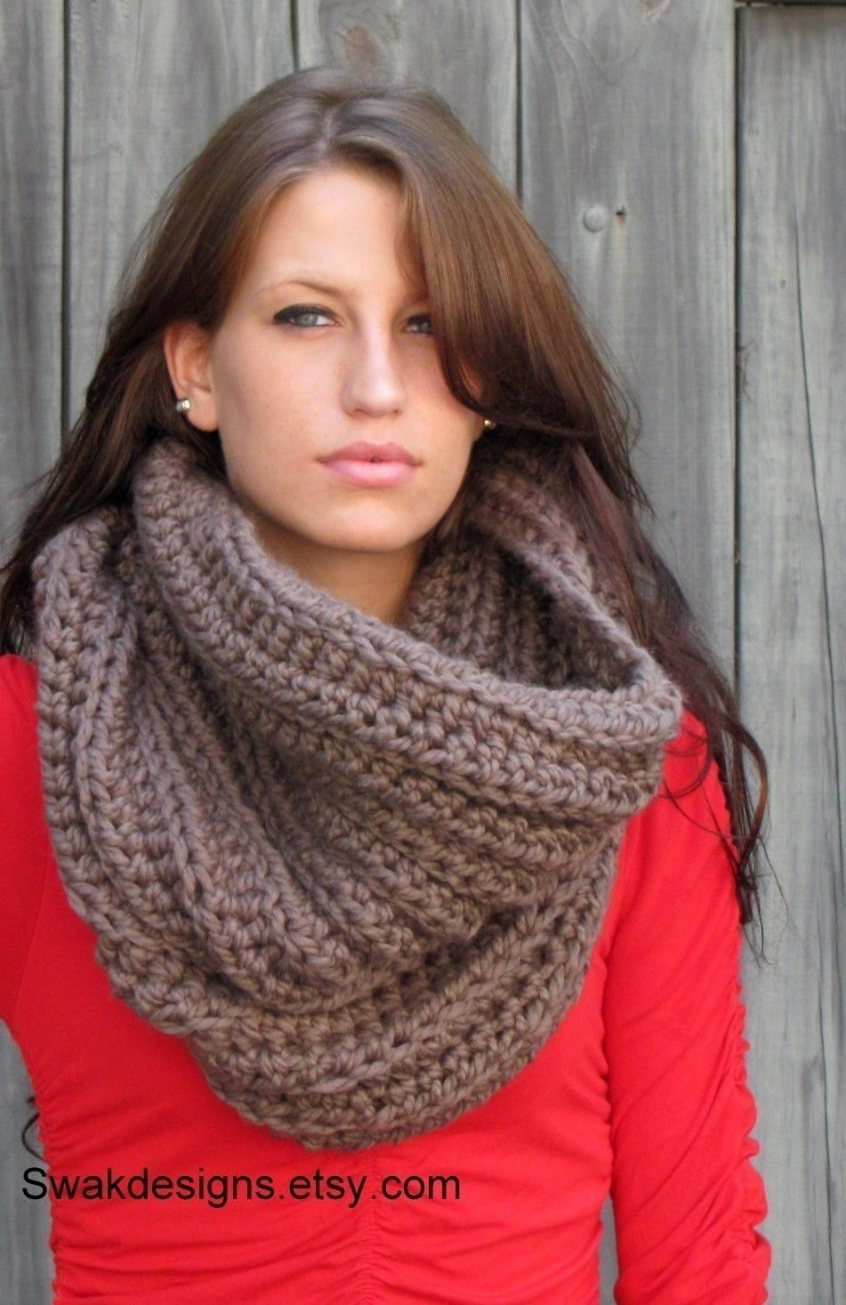 Oversized Chunky Cowl Wool Hooded Cowl Snood Unisex Cowl Scarf ...