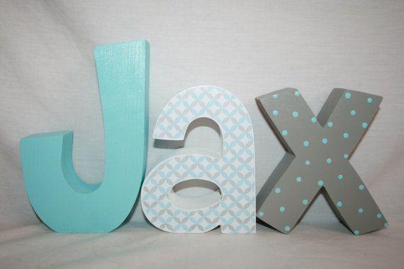Hanging Nursery Letters Boys Por Woodenwonders