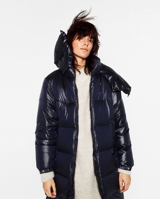 Image 4 of LONG QUILTED FEATHER DOWN COAT from Zara | Fall Layers ... : quilted long down coat - Adamdwight.com
