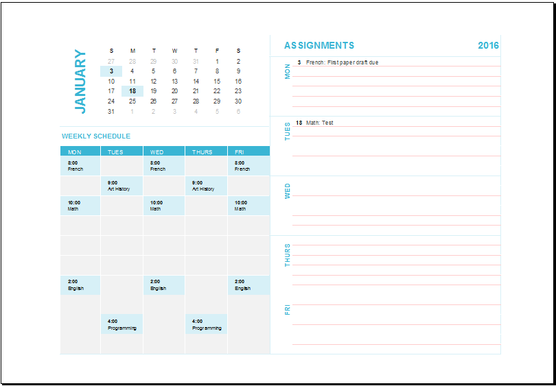 Weekly Task Planning Calendar At XltemplatesOrg  Microsoft