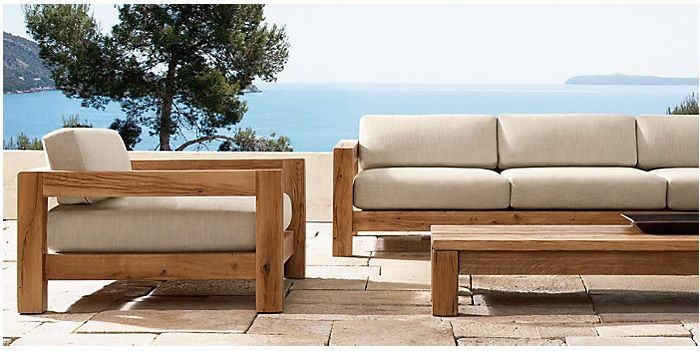 Rustic Patio Seating From Restoration Hardware Outdoor Furniture