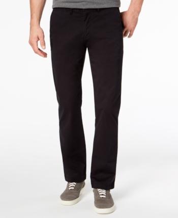Tommy Hilfiger Big /& Tall Chinos Mens TH Flex Classic Fit Flat Front Black Pants