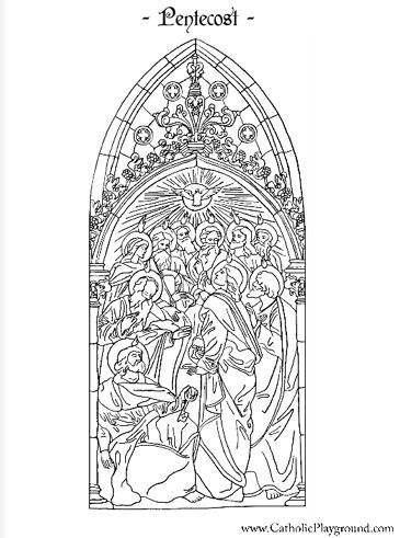 pentecost coloring page. catholicplaygroun... has dozens