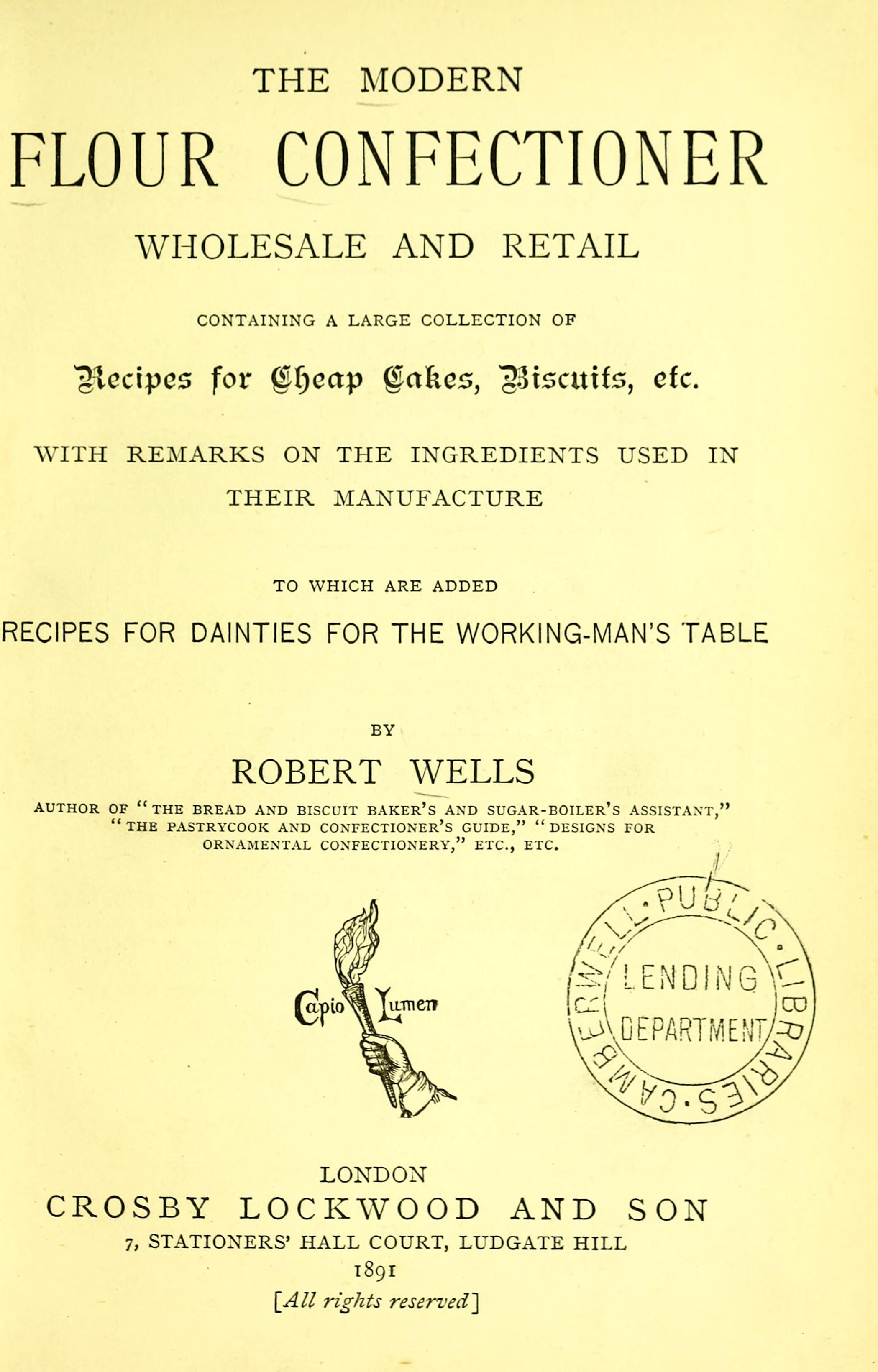 The Modern Flour Confectioner Wholesale And Retail By Robert
