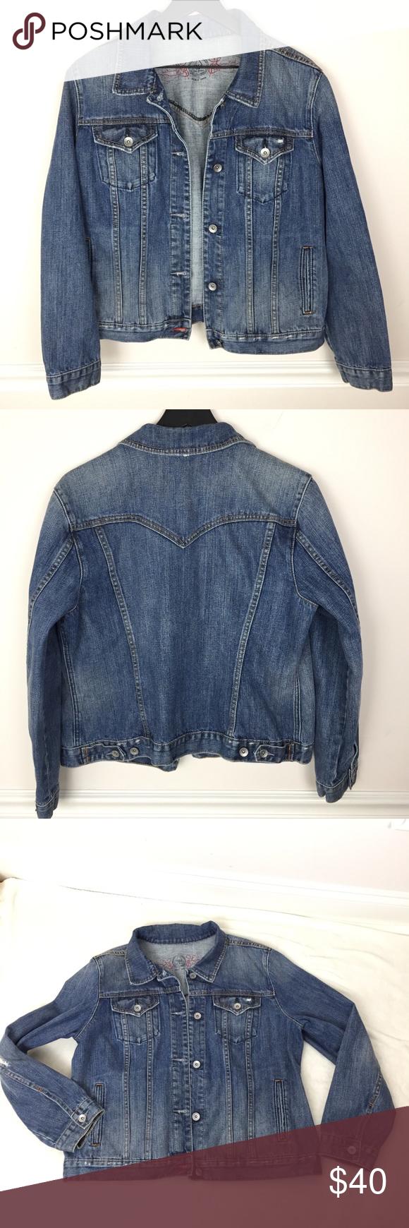 Gap Jean Jacket 1969 Limited Edition Blue Denim Xl Comfortable Denim Gap Jeans Jean Jacket [ 1740 x 580 Pixel ]