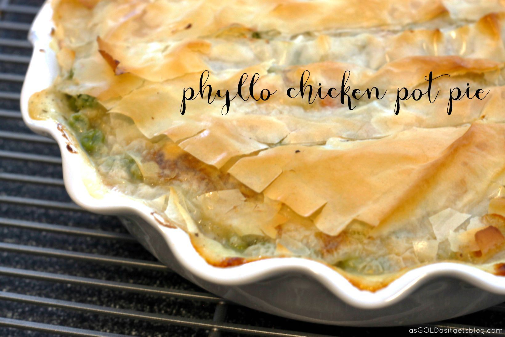 Great Chicken Pot Pie With Phyllo Dough