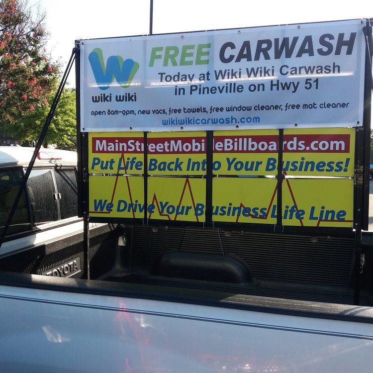 wiki.jpg Car wash, Billboard advertising, Online business