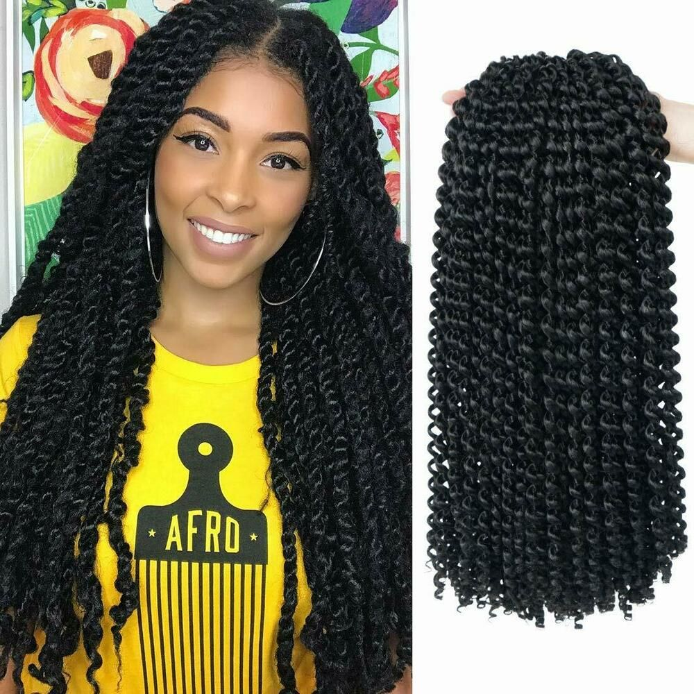 Passion Twist Synthetic Hair Braids Curly Fluffy Crochet Hair