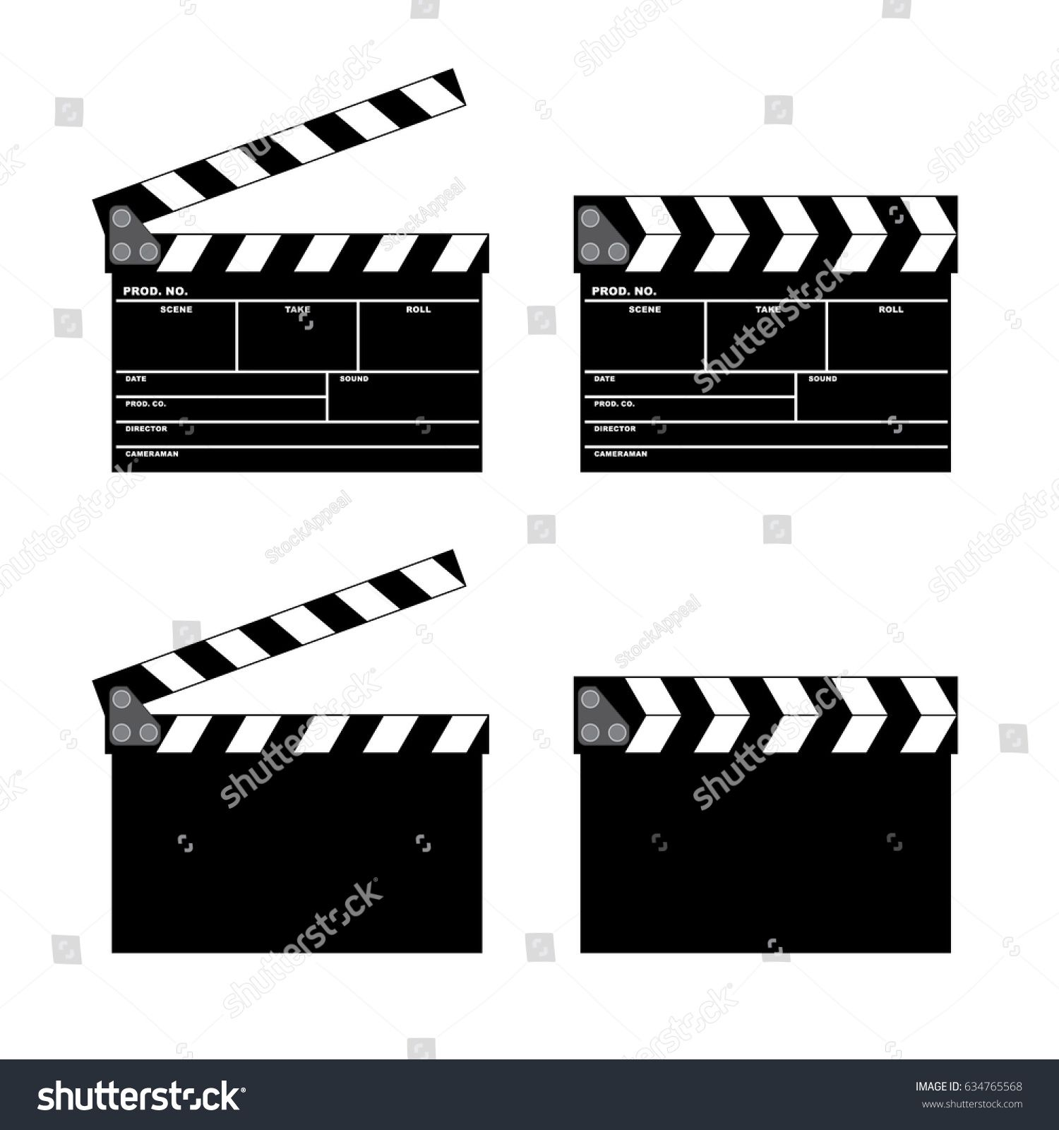 Vector Movie Clapper Board Set Open And Closed Ad Affiliate Clapper Movie Vector Board Brochure Design Inspiration Vector Brochure Design