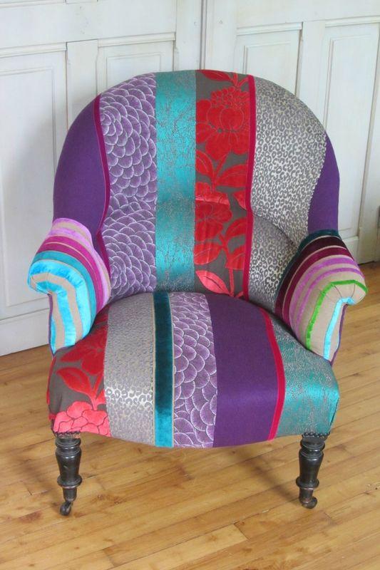 crapaud retapiss par c t si ges brest fauteuils crapauds fauteuil crapaud fauteuil et. Black Bedroom Furniture Sets. Home Design Ideas