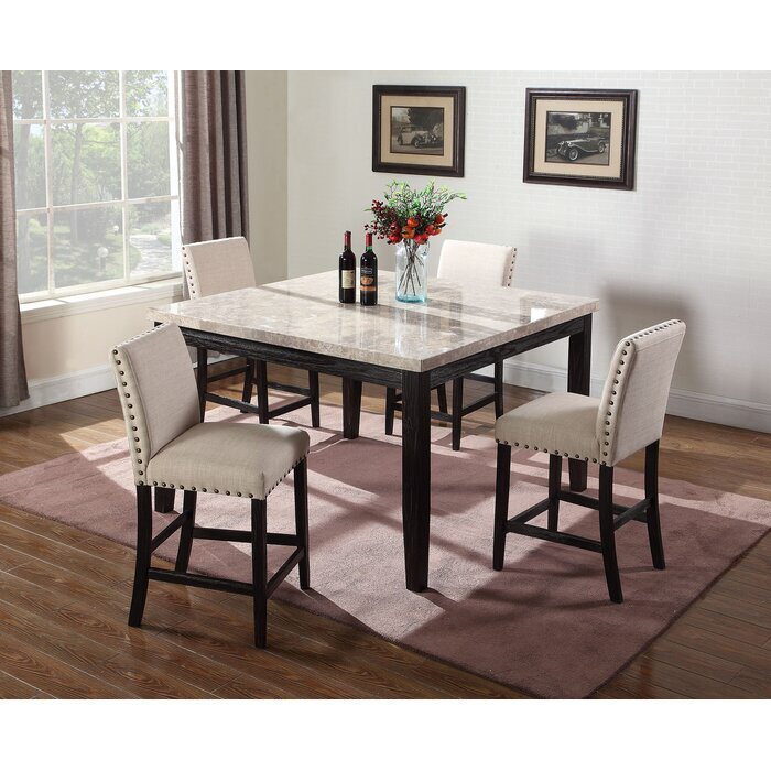 Amoret 5 Piece Counter Height Dining Set Counter Height Dining Table Counter Height Dining Sets Best Master Furniture