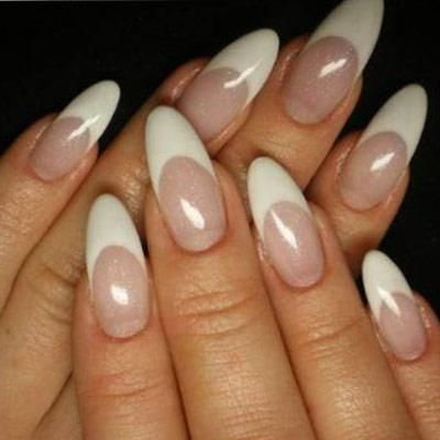 The Pointy Nails Shape Makes Short Fingers Look Slender And Elongates Them Too