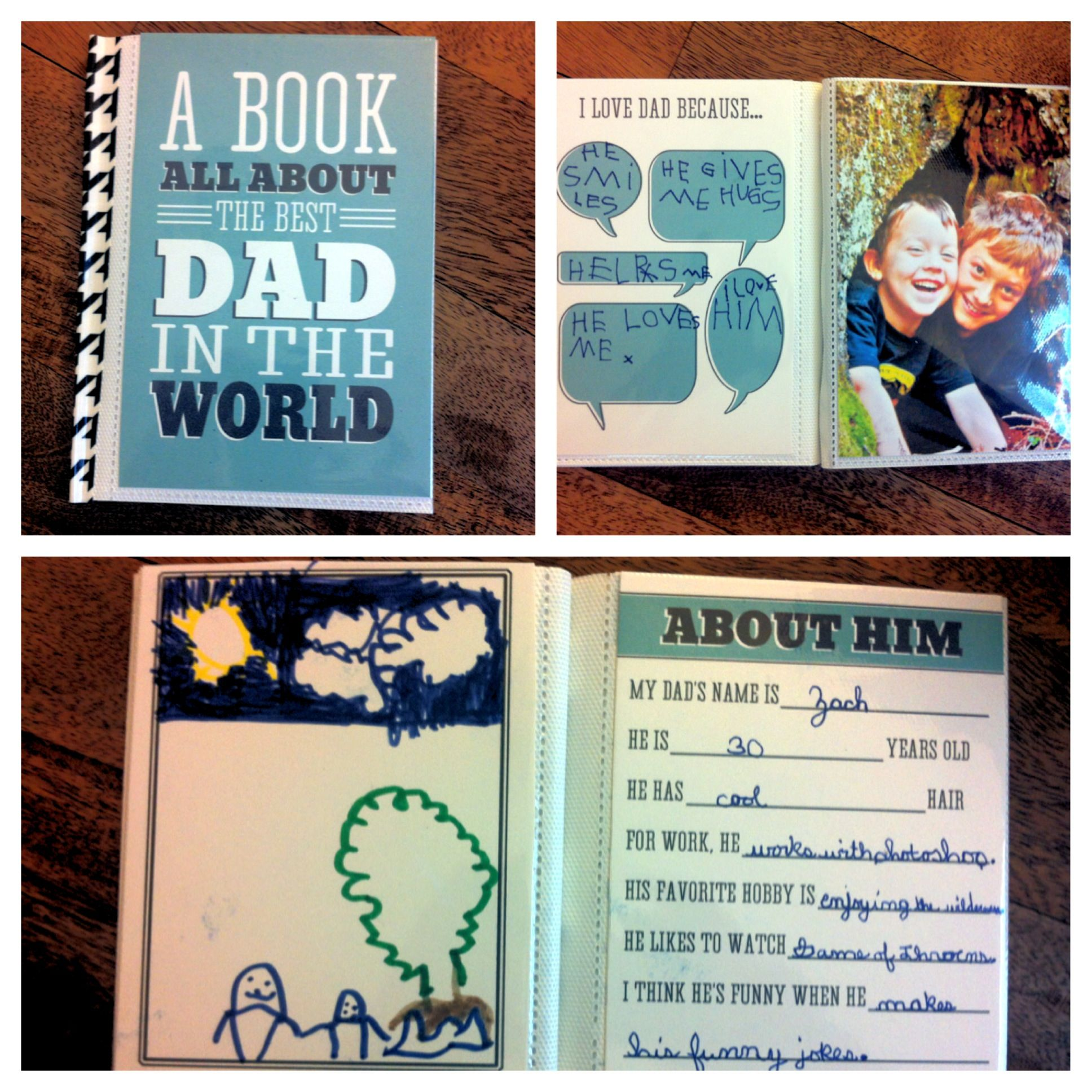 homemade fathers day gift from kids dad and grandpa printable books super cute - Diy Christmas Gifts For Dad