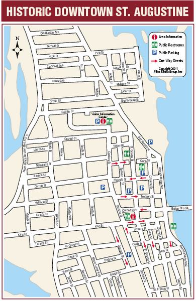 st augustine florida, map to get aquainted and plan where