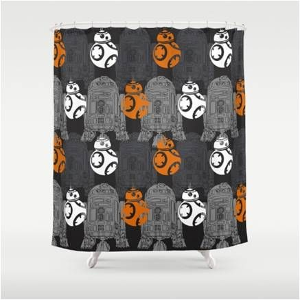 Artisan Star Wars Droids Bb8 And R2 D2 Shower Curtain Star Wars