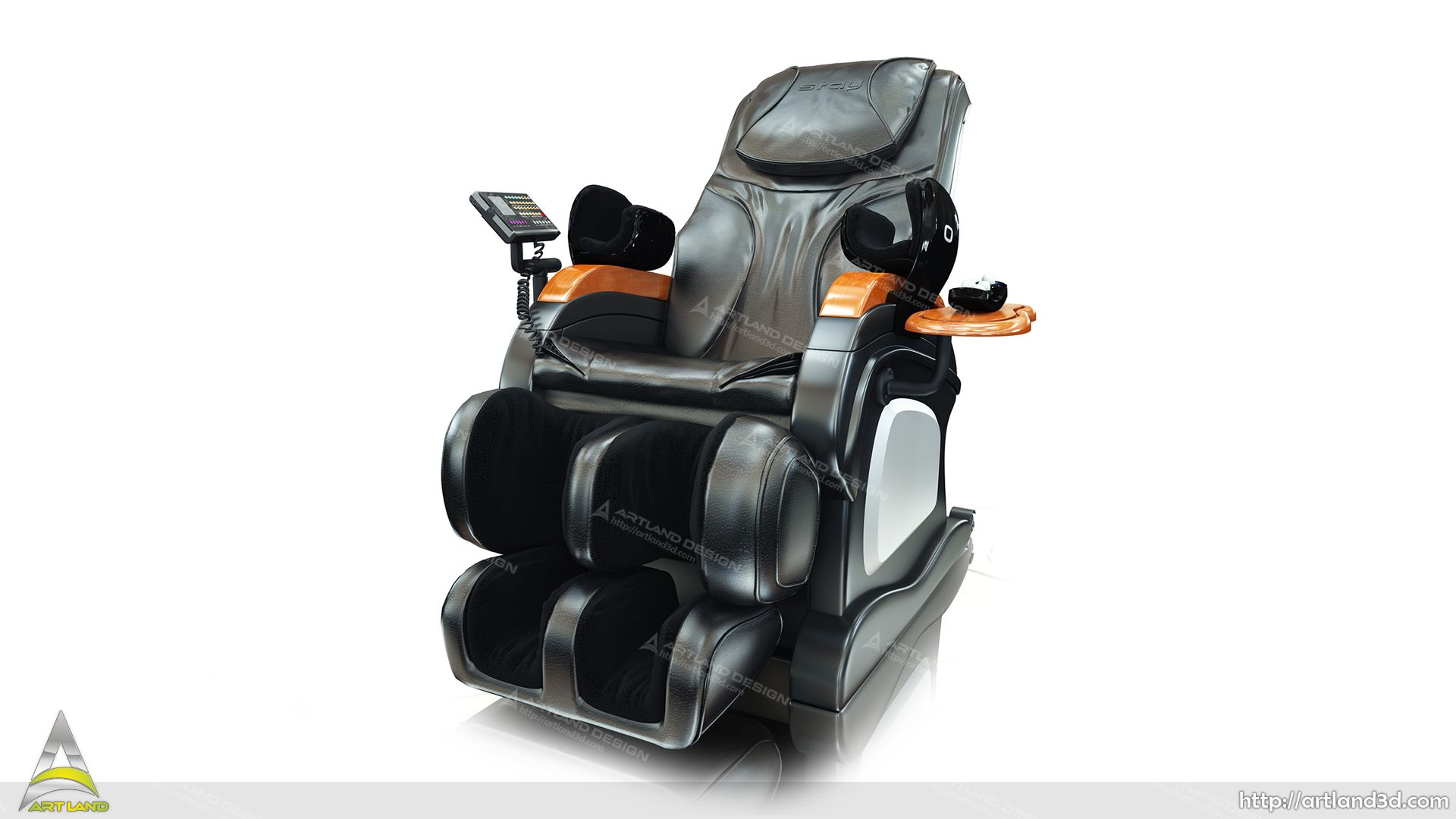 Massage Chair 3D Modeling and Post Processing, 3D