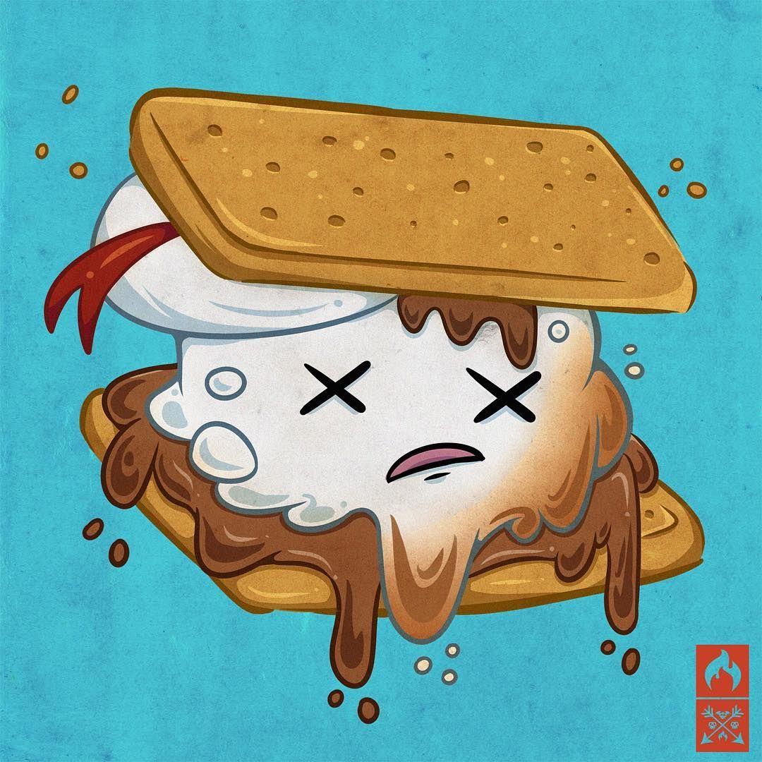 Ghostbusting makes you.. Hungry. Here have a spectral s'more. #ghostbusters…