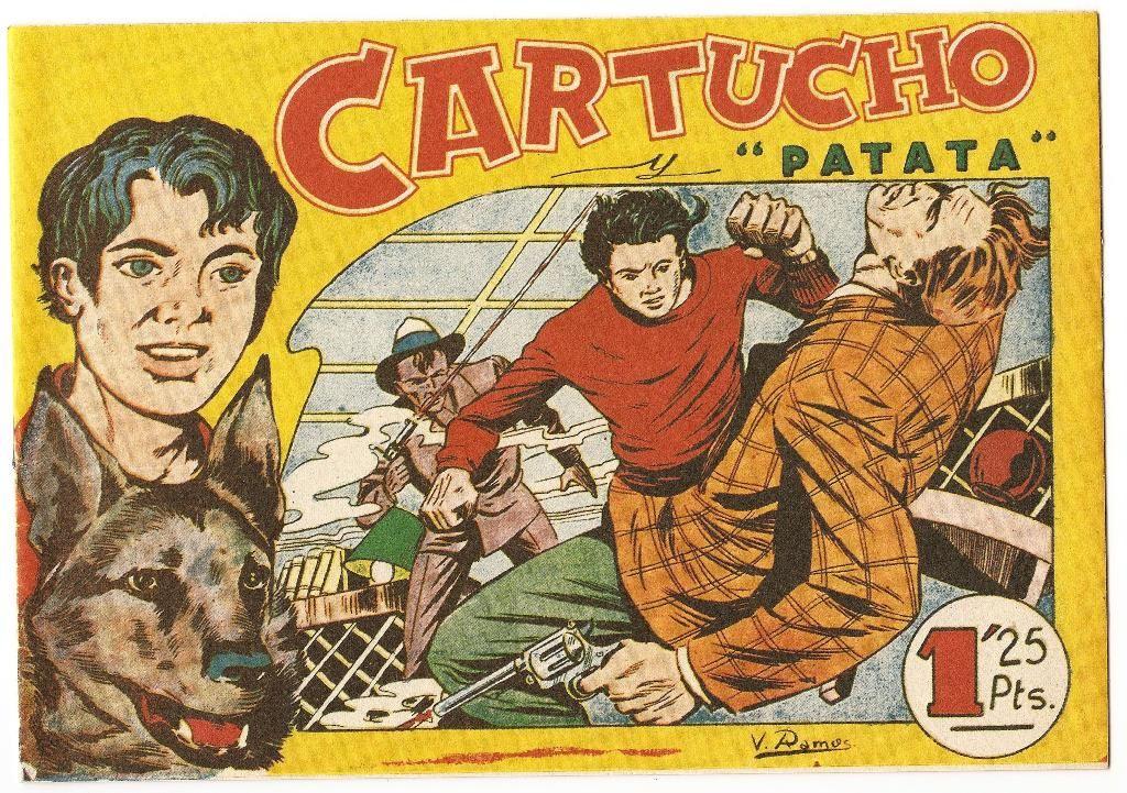 Cartucho y patata- Colección de 25 números y 1 almanaque, publicados en 1956 por Editorial Maga