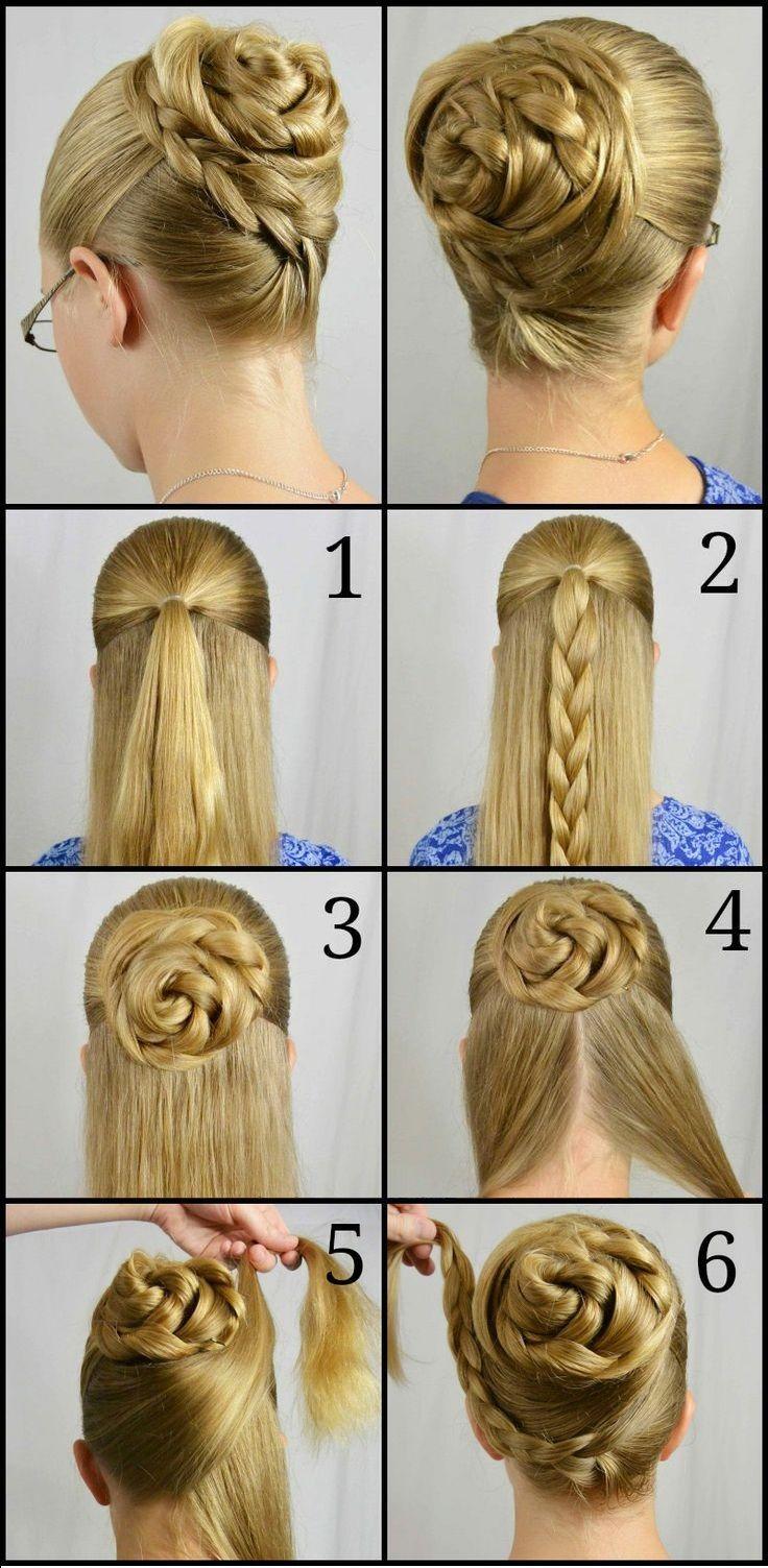 Moño trenzado peinados pinterest updos and hair style