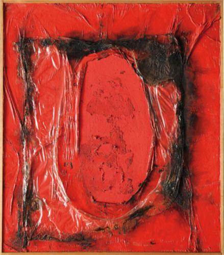Red Plastic - Alberto Burri