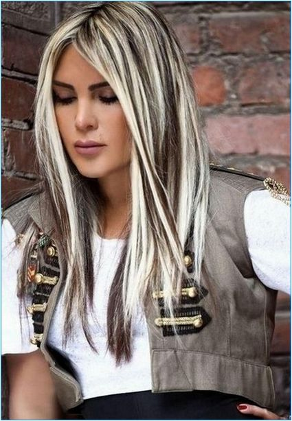 Best Hair Color For Brunette Going Grey Best Photos Ideas Dark Brown Hair With Blonde Highlights Platinum Blonde Hair Color Brown Hair With Blonde Highlights