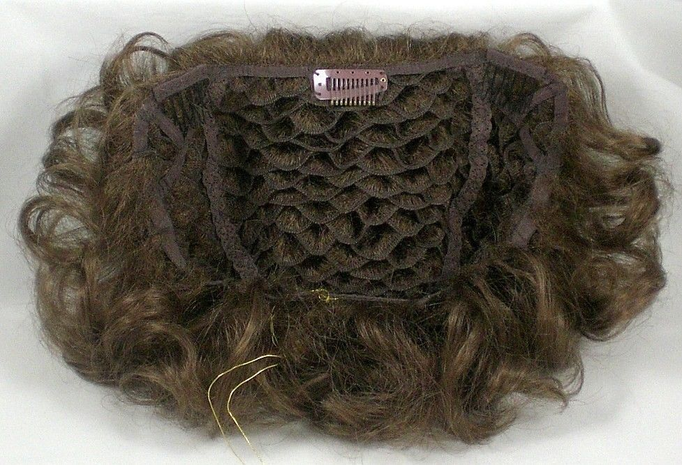 Large Pull Through Honeycomb Base Hair Enhancer Wiglet Piece
