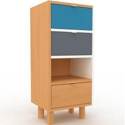 Kommode Buche – Design-Lowboard: Schubladen in Buche – Hochwertige Materialien – 41 x 91 x 35 cm, Se