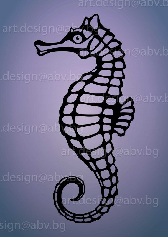 Vector Seahorse Ai Eps Pdf Png Svg Dxf Jpg Image Etsy Svg Seahorse Graphic Image