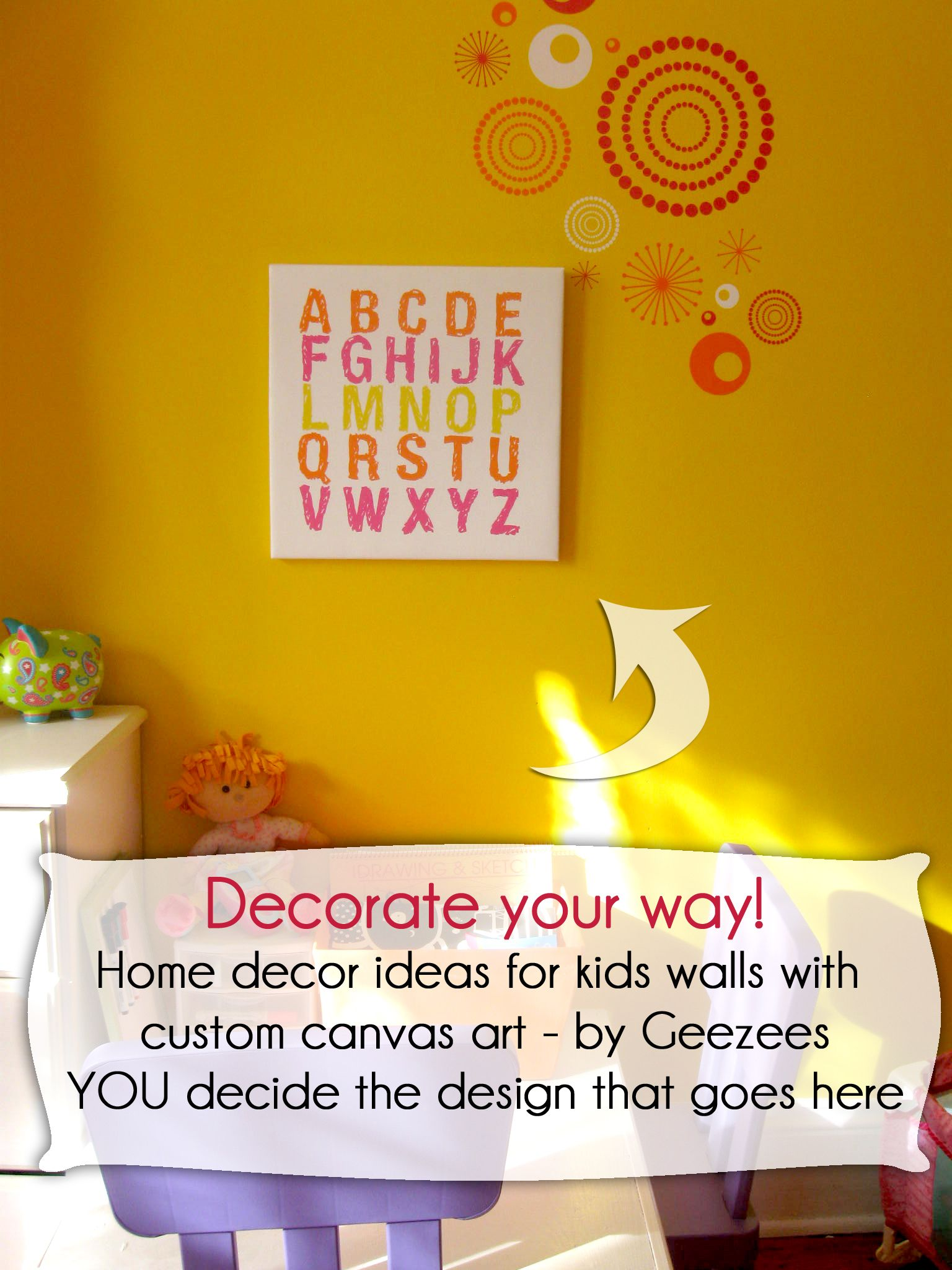 DECORATE YOUR WAY! Home decor ideas for kids walls with custom ...