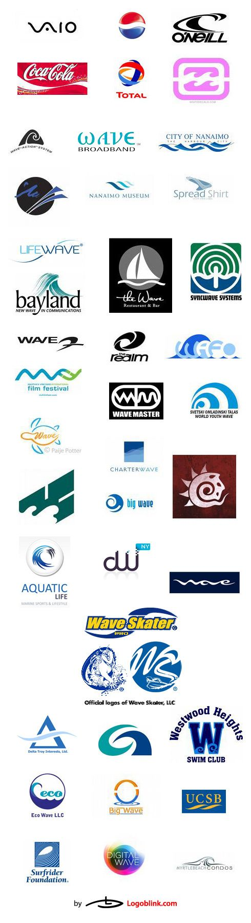 wave logo design brands