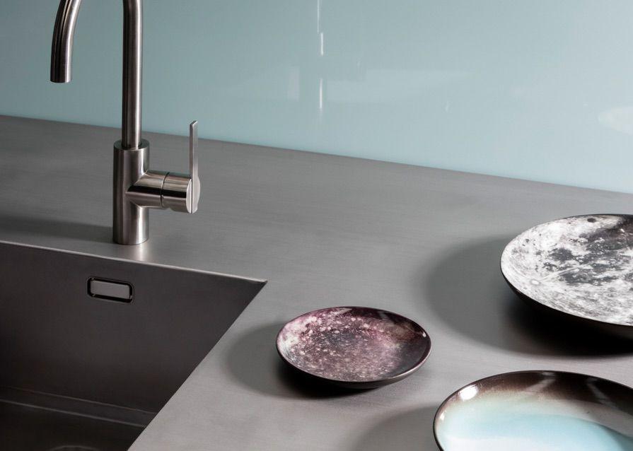 Achterwand Modern Keuken : Glazen keuken achterwand glasplaat achterwand