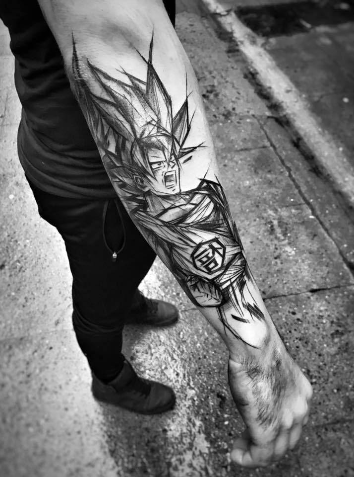 Inez Janiak Sketch Tattoos Sketch Style Tattoos Tattoos Dragon Ball Tattoo