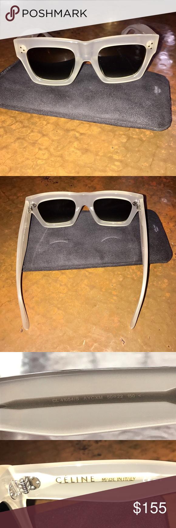 c4e170a091a Celine Sunglasses CL 41054 S Large Original AYC XM These authentic Celine  CL 41054