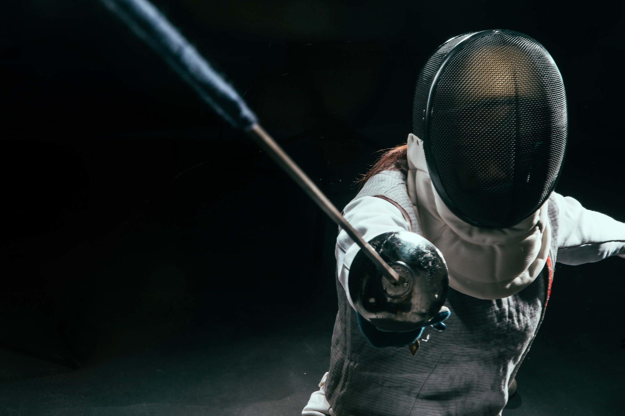 Fencing In Close Up Fence Athlete Sword Fight