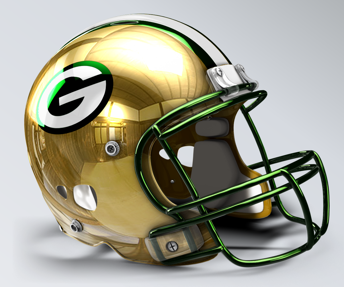 Green Bay Packers Concept Helmet Green Bay Packers Fans Nfl Football Helmets Football Helmets