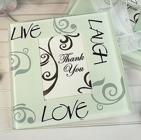 Live Laugh Love Photo Coaster Set Of 2
