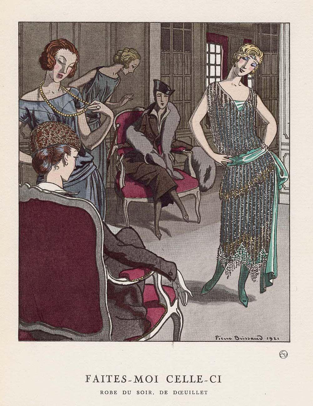 Les Planches Disponibles dans la Gazette du Bon Ton Présentaient les Créations des Couturiers de l'Epoque, Considérés comme 'Soutiens', et Fournissant un Modèle Exclusif par Numéro comme Doeuillet, ici en 1912