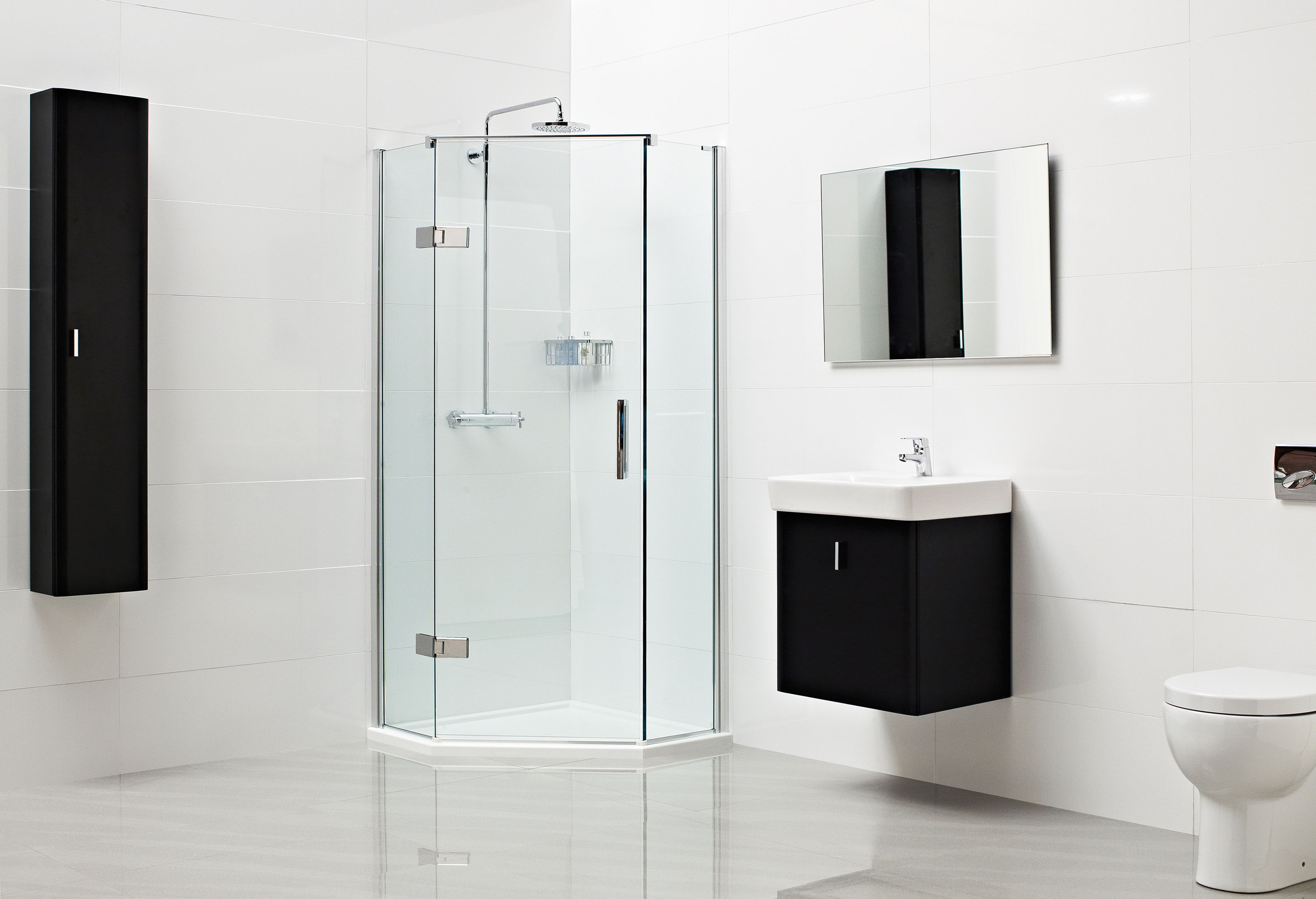 Pin On Hinged Shower Door Enclosures