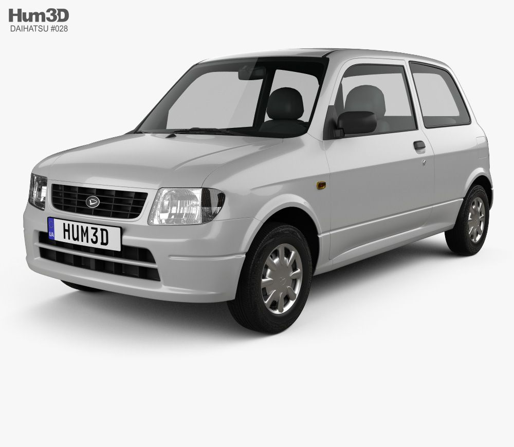 3d Model Of Daihatsu Mira 3 Door 1998 Daihatsu 3d Model Model
