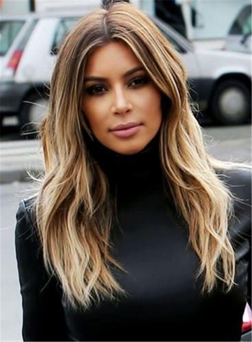 Kim Kardashian Middle Parting Body Wave Human Hair Lace Front Wigs – Misaki Schiriuki